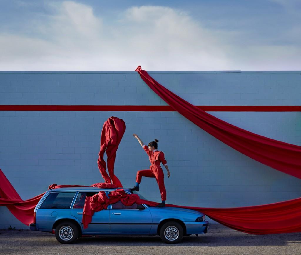 Adi Goodrich ve arabası 1988 Chevy Cavalier Glendale, California