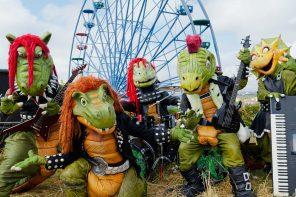 İskandinav Çocukların çok sevdiği Dinozor Heavy Metal Grubu Hevisaurus'la Tanışın!