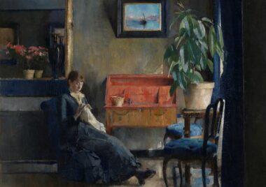 Harriet Backer - Blatt interior