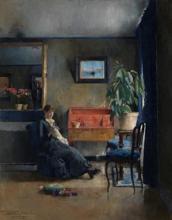 Blått Interiør (Mavi İç Mekan) (1883)