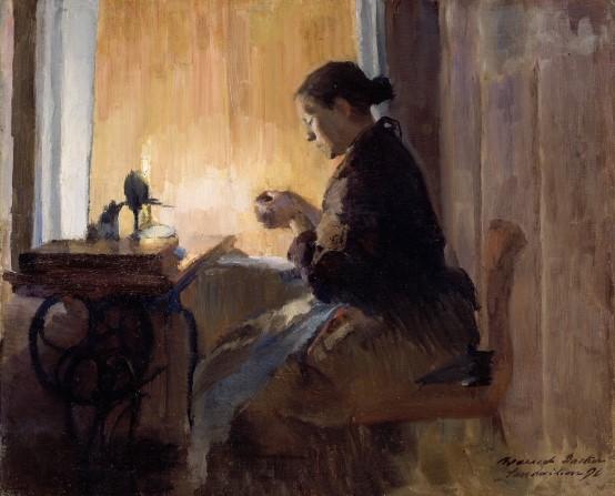 Ved lampelys (Lamba Işığında) (1890)