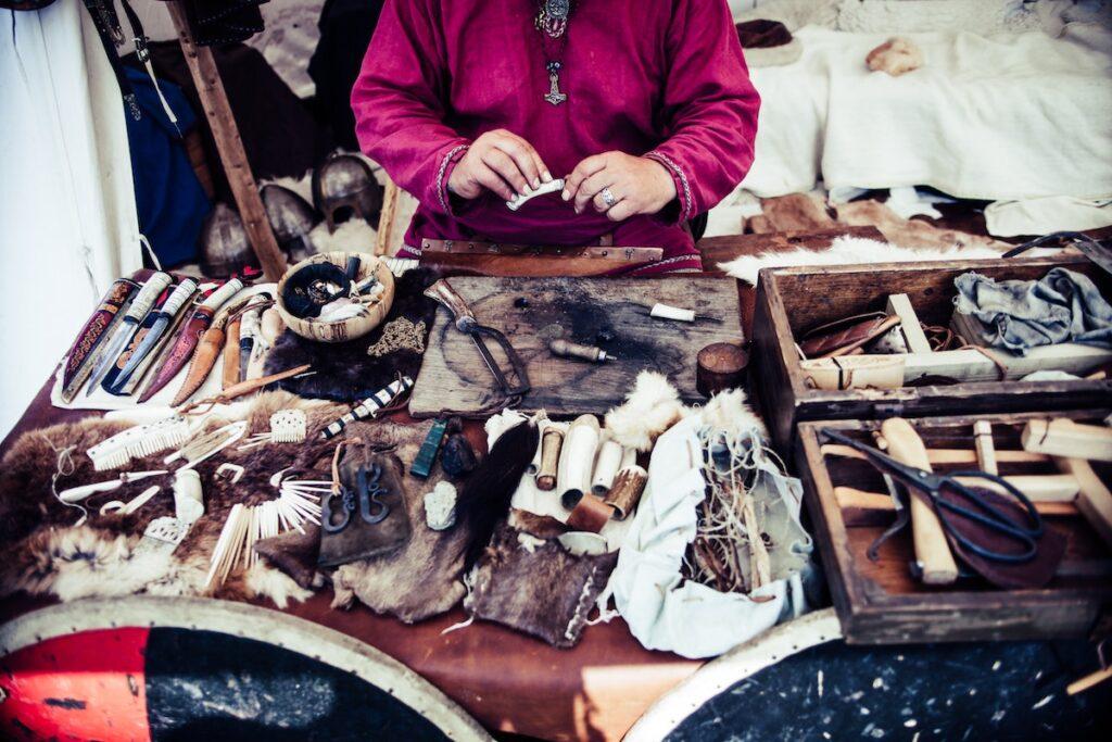 Vikinglere ait el yapımı işçilikler