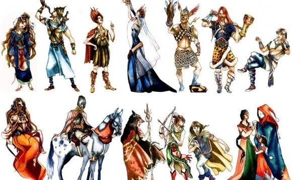 Vikinglerin tanrıları ve tanrıçaları temsili